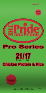 Pride 21/17 Pro Series Dog Food, 50 pound bag