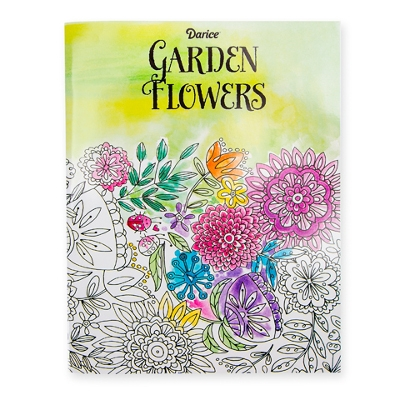 Darice Garden Flowers Adult Coloring Book