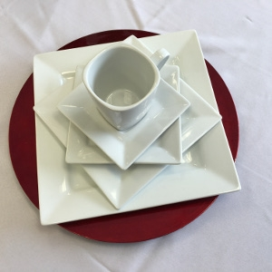 Square White Dinner 10 Inch Plate