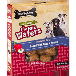 All Natural Classic Wafers Oat & Apples Flavor Dog Treats 13oz