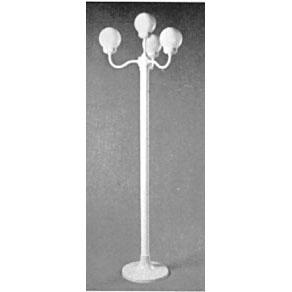 4-Globe White Post Light