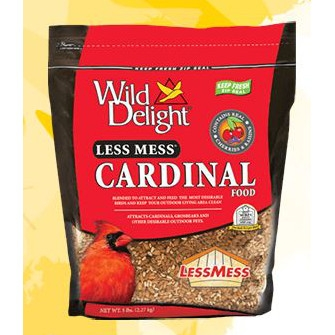 Wild Delight Less Mess Cardinal Food 5 Pound