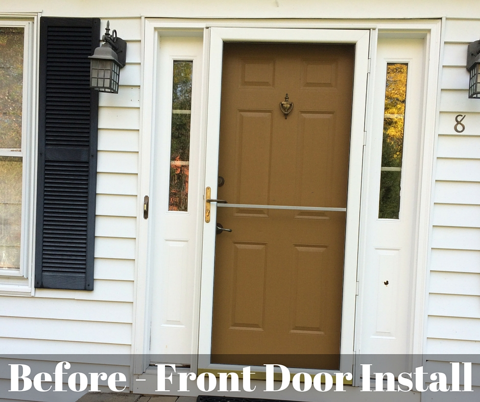 Before Front Door Installation : door installation - Pezcame.Com