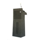 Floor Lectern Podium with Mic