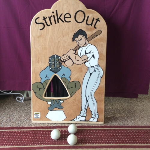 Strike Out Baseball Toss Carnival Game