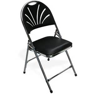 Indoor Folding Padded Chair White or Black