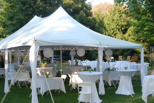 20' x 30' White Elite Rope Tent