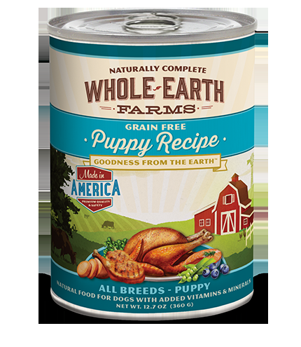 Merrick Whole Earth Farms Puppy Cans - 12/13.2oz.