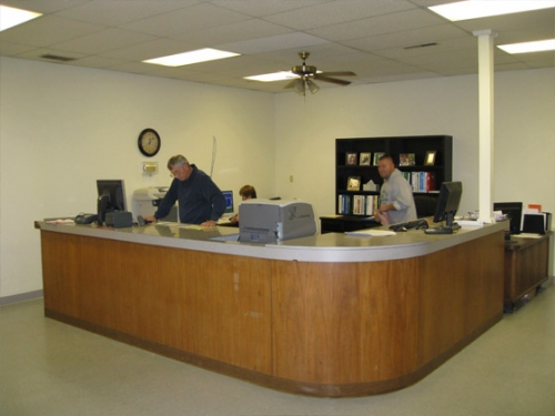 Steinkamp Owensboro Sales Center Sales Counter