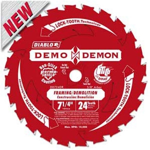 Diablo Demon 7-1/4'' Circular Saw Framing/Demolition Blade