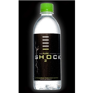 Shock H20 Caffeinated Purified Water with Green Tea