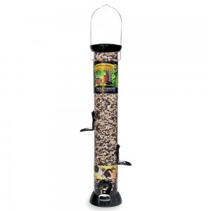 Droll Yankees Onyx Clever Clean 18 Inch Sunflower/Mixed Seed Feeder
