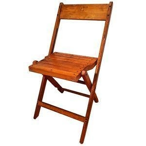 Wood Folding Chair - Oak