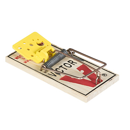 Easy Set Mouse Trap with Pre-Baited Cheese Pedal