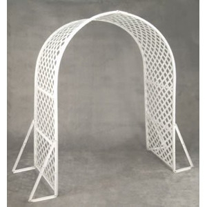 White Lattice Wedding Arch