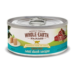 Whole Earth Farms Grain Free Duck Pate Cat Food