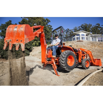 Kubota Compact Tractor with Front Loader and Backhoe