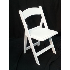 White Resin Garden Folding Chair