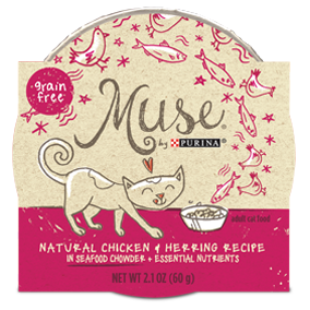 Muse by Purina: Natural Chicken & Herring Recipe in Chowder Cat Food