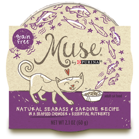 Muse by Purina: Natural Seabass & Sardines Recipe in Chowder Cat Food