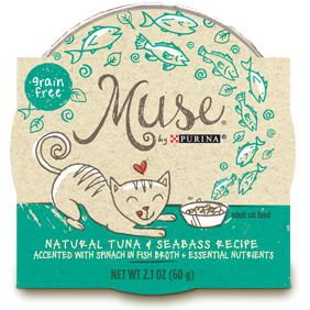 Muse by Purina: Natural Tuna & Seabass Recipe in Broth Cat Food