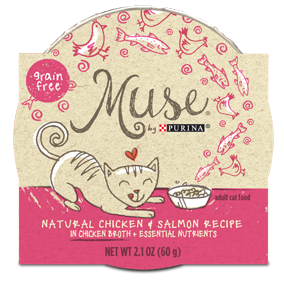 Muse by Purina: Natural Chicken & Salmon Recipe in Broth Cat Food