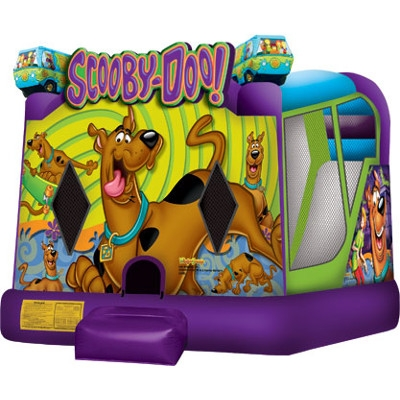 Scooby Doo Bounce House Wet & Dry Slide Combo