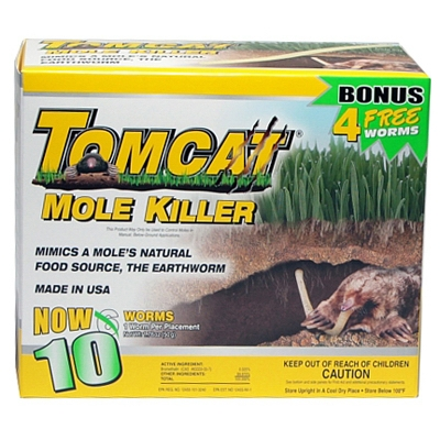 Tomcat Mole Killer, 10 Worms