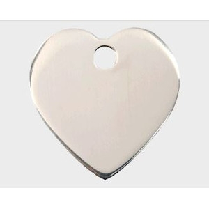 Stainless Steel Pet Tag - Heart