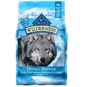 BLUE Wilderness® Denali Dinner™ with Wild Salmon, Venison & Halibut Grain-Free Dry Dog Food