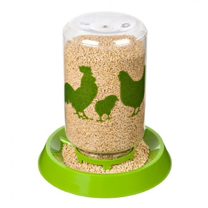 Double Duty Waterer-Feeder for Backyard Flocks