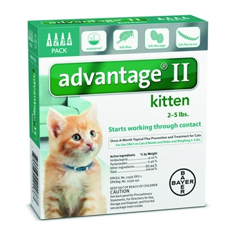 Advantage II Kitten 4 pack