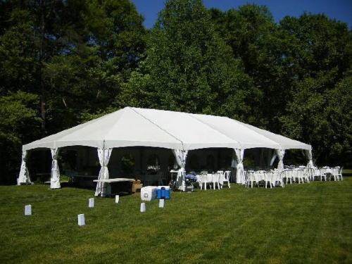 30' Wide JumbotracLite White Frame Tent