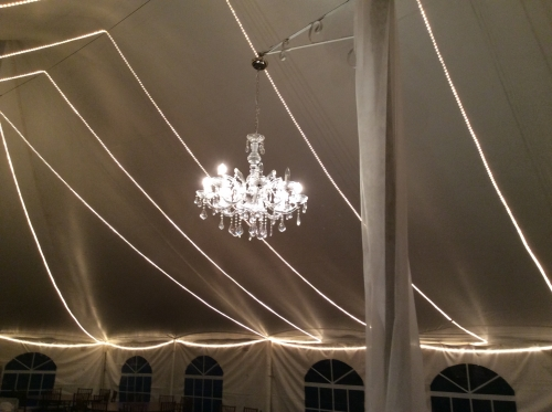 Tent Interior with Chandelier