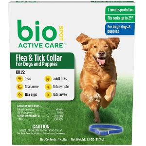 Bio Spot Active Care Flea & Tick Collar for Dogs