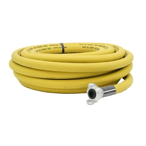 "Yellow 300# Pneumatic Tool Air Hose Assembly 3/4"" ID x 50 Ft"