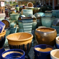 Buy One Piece of Glazed Pottery, Get One Half off