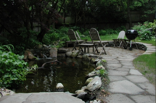 Grilling by the pond--the best relaxation.