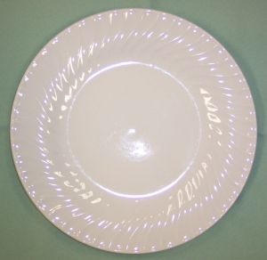 Bread & Butter Plate, White Swirl, 6""