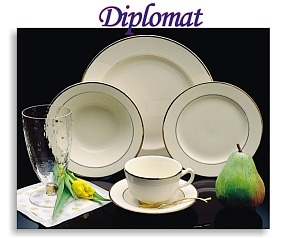 China, Gold Band Plates and Accessories