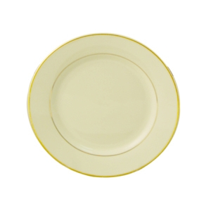 Luncheon Plate, Ivory w/Double Gold Band, 9""