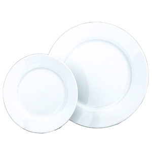 Wedding White Wide Rim Plates
