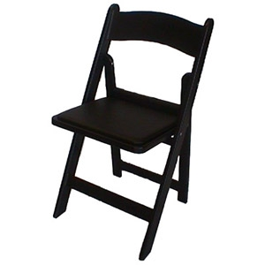 Black Resin Padded Chairs