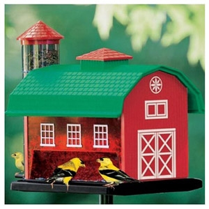 Audubon Red Barn Combo Bird Feeder