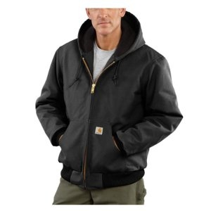 Carhartt Men's Duck Active Jac/Quilted-Flannel Lined