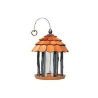 Wood Gazebo Feeder Natural