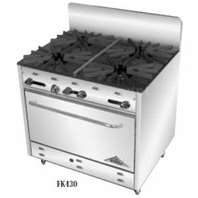 Comstock Castle LP Oven (sheet pan size) w/ 4 burners