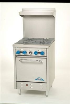 Comstock Castle LP Oven (chafer pan size) w/ 4 burners