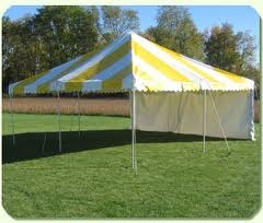15 x 15 Yellow and White Traditional Party Canopy