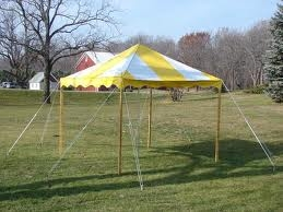 10 x 10 Yellow and White Traditional Party Canopy Tent